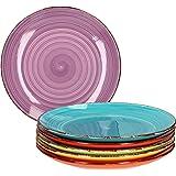 Ensemble d'assiettes 6 pièces Uni coloré I assiette à dîner I assiette menu I assiette de service ronde I accessoires de tabl