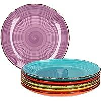 Ensemble d'assiettes 6 pièces Uni coloré I assiette à dîner I assiette menu I assiette de service ronde I accessoires de…