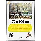 3-B Ramka na zdjęcia plakat - ramka na plakat ze szkłem poliestrowym i opakowaniem ochronnym - czarna - 70x100 cm (B1)