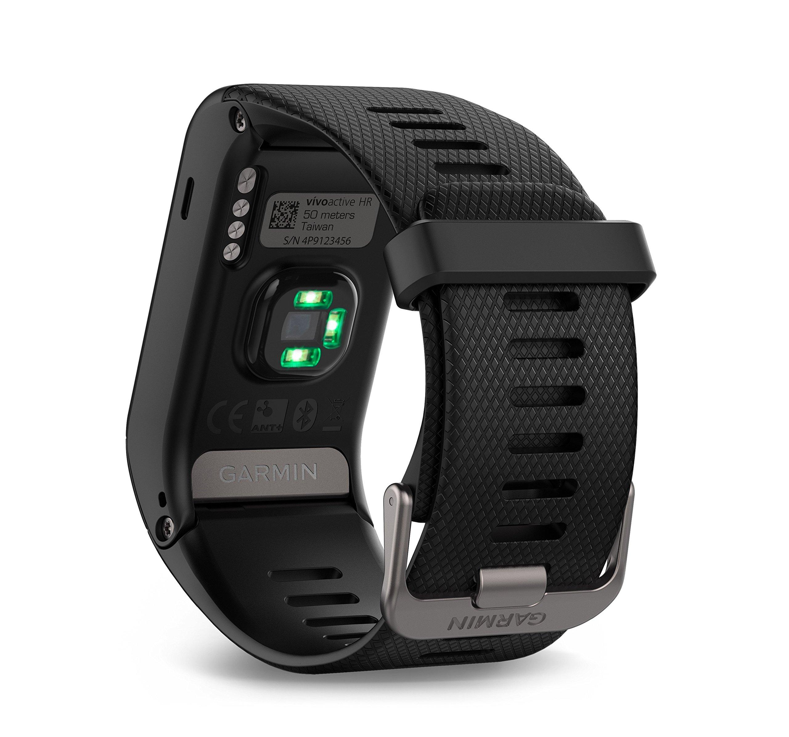 Garmin Vivoactive HR Regular Smartwatch con Cardio al Polso, Profili d'Attività Fisica, Cinturino Regular (M-L), Nero 5 spesavip