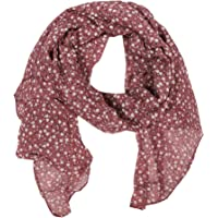Zwillingsherz Seiden-Tuch im Blümchen Design - Hochwertiger Schal für Damen Mädchen - Halstuch - Umschlagstuch…