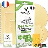 Loomy Bee Wrap ou Emballage Cire d'abeille Réutilisable - Lot de 6 - Film Alimentaire Réutilisable écologique, Lavable et zér