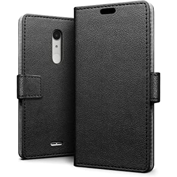 the best attitude 04f62 af7f9 SLEO Alcatel A3 XL Case - SLEO Luxury Slim PU Leather Flip Protective  Magnetic Wallet Cover Case for Alcatel A3 XL with Card Slot and Stand  Feature - ...