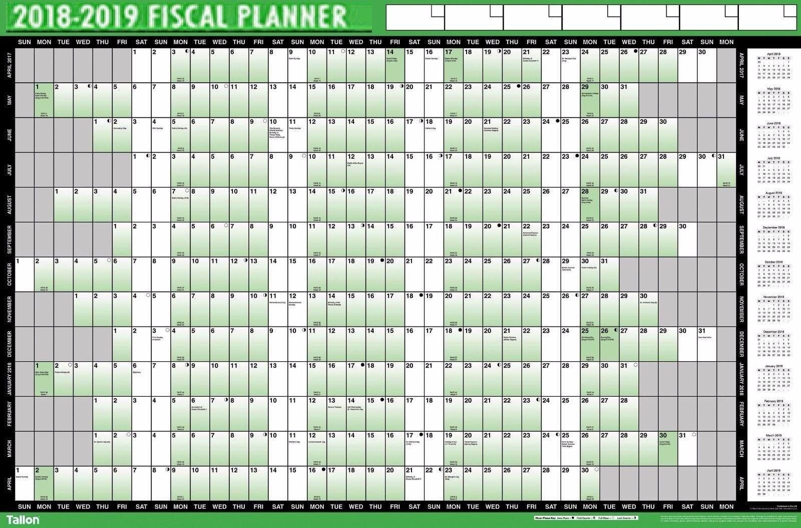 Mid Year Calendar : Financial fiscal wall planner mid year calendar