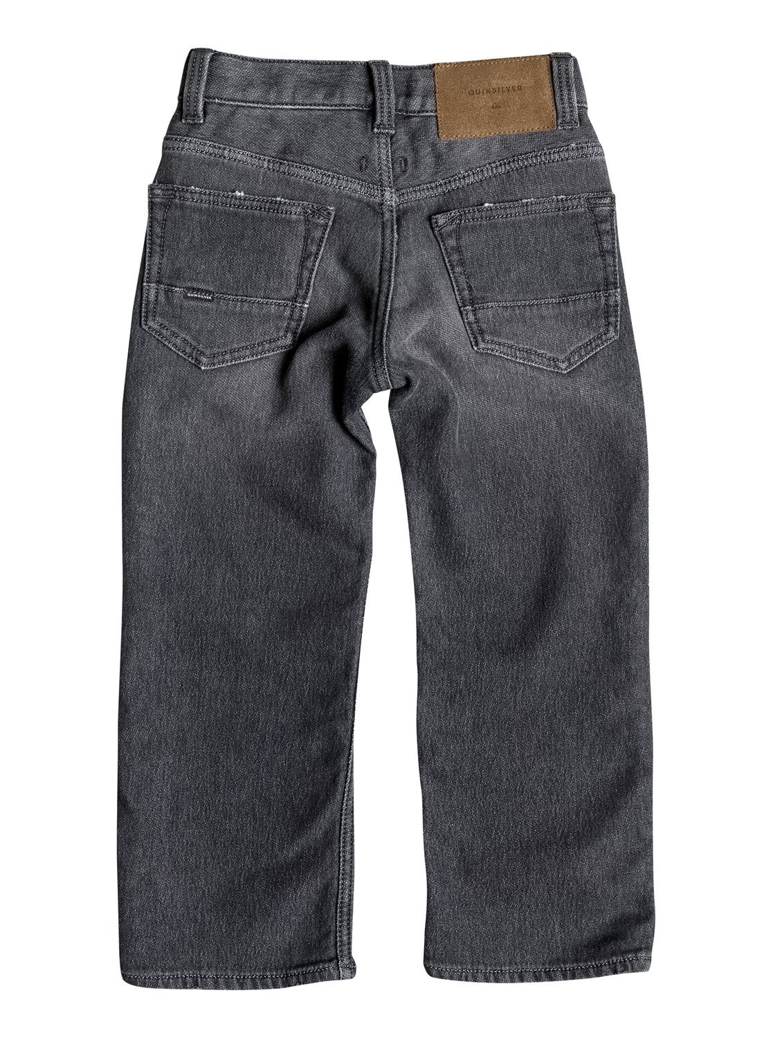 Quiksilver Sequel Grey Damaged – Vaqueros Corte Regular para Niños EQKDP03046