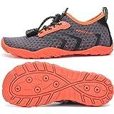 SAGUARO Zapatos de Agua Niños Niñas Secado Rápido Respirable Antideslizante Escarpines Agua,Gr 24-36