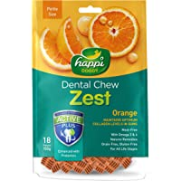 Happi Doggy Gluten Free Dog Treats Orange Complete Dental Care With Omega 3 & 6 For Healthy Coat - 150 Gms