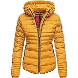 Marikoo–Giacca invernale trapuntata, giacca collo alto, Teddy Fell Warm foderata B354