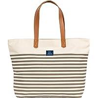 AQVA Cotton Canvas Tote Bag for Women & Men - Shoulder Bag with Inner Zip Pocket - Canvas Handbag for Grocery, Shopping…