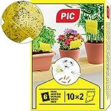 PIC – 20 kleine gele stickers, voor rouwmuggen, bladluizen, mineervliegen, tripsen en witte vliegen – perfect tegen ongediert