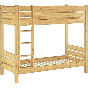 Solido letto a castello in pino Eco laccato PER ADULTI 80x190 con ...