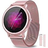 BANLVS Smartwatch Donna IP68 con 24 Modalità Sportive, Orologio Fitness Impermeabile Smart Watch Cardiofrequenzimetro da Pols