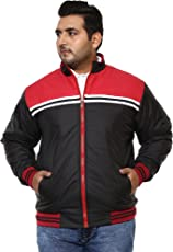 JOHN PRIDE Men Black Coloured Jacket (Sizes: 3XL- 6XL)