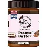 Da Vinci's Chocolate Peanut Butter 500 G | Made with Roasted Peanuts, Cocoa Powder & Choco Chips | Creamy | Non GMO | Gluten