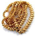 AFJ GOLD Copper Gold Plated Chain for Women (Gold)