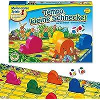 Ravensburger Kinderspiel 21420 - Tempo kleine Schnecke - Das spannende Schneckenrennen, Brettspiel und…