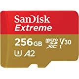 SanDisk Extreme microSDXC UHS-I Speicherkarte 256 GB + Adapter (Für Smartphones, Actionkameras und Drohnen, RescuePro Deluxe