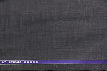 Raymond Men's Unstitched Poly Viscose Solid Suit Fabric (Grey, 3m)