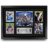HWC Trading A3 FR Glasgow Rangers 55th Time Scottish Champions Display Signed Gift FRAMED A3 Printed Autograph Football…