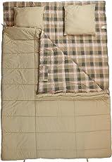 10T Doppel-Schlafsack CANOODLE DUO -23° 2 Personen Deckenschlafsack + Kissen 230x160 Beige 300g/m²