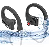 Annure La Musique Waterproof IPX7 Sports High Bass Bluetooth Wireless Earphones Headsets with Mic BE01