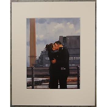 "Back Where You Belong by Jack Vettriano Mounted Art Print 10/"" x 8/"""