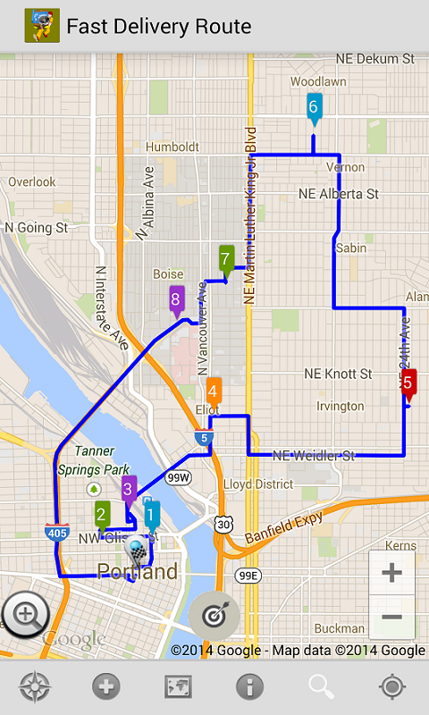 Fast Delivery Route