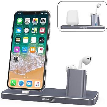 Bestand Socle 2 en 1 de Chargement d'Airpods & Support Téléphone mobile pour bureau, pour
