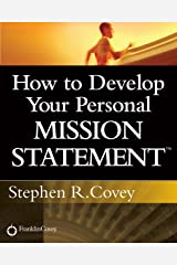How to Develop Your Personal Mission Statement (English Edition) Format Kindle