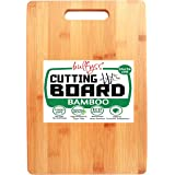Bulfyss Large Natural Bamboo Wood Chopping Cutting Board for Kitchen Vegetables, Fruits & Cheese, BPA Free, Eco-Friendly, Ant