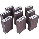 S&R Schuursponsset 9 stuks, 100 x 70 x 25 mm, slijpblokken, handschuurmachine, 3 korrels, medium 3 x P180, fijn 3 x P240, sup