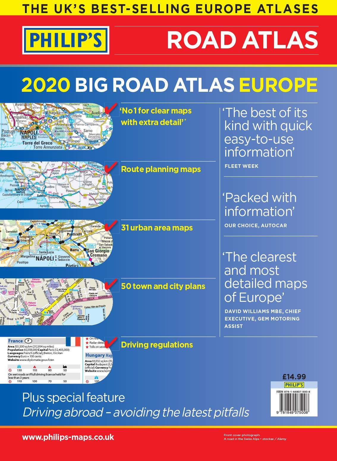 2020 Philip's Big Road Atlas Europe: (A3 Spiral binding) (Philip's Road Atlases) 8
