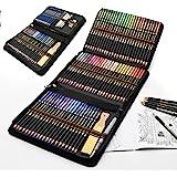 Lápices acuarelables profesionales, 96 Pieza Set de Dibujo Artista Kit con Lapices de Colores, Lápices de Dibujo y Bosquejo M