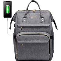 LOVEVOOK Laptop Rucksack Damen 17 Zoll, wasserdichte Rucksäcke Studenten mit Henkel USB Ladeanschluss, Groß Schultasche…
