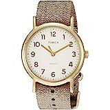 ساعة تايمكس ويك إندر 38 ملم المعدنية ذهبية TW2R92300