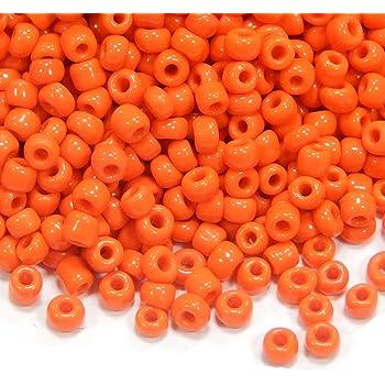 Rocailles Perlen 2mm Glas Orange Opak 450g Schmuck Basteln Seed Beads A26