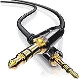 CSL - 1m 2,5mm zu 3,5mm Klinkenkabel | Adapterkabel | 2,5mm Klinken-Stecker zu 3,5mm Klinken-Stecker | geeignet für Handy Smartphone iPhone iPad iPod Tablet