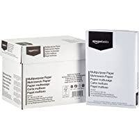 AmazonBasics Druckerpapier, DIN A4, 80 g/m², 5x500 Blatt, Weiß