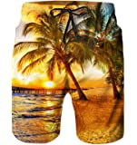 Idgreatim Herren Badehose Sommer Badeshorts 3D Print Grafik Strand Surf Board Shorts