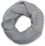 styleBREAKER Strick Loop Schal mit Patentmuster, Uni Feinstrick Schlauchschal, Winter Strickschal, Unisex 01018152