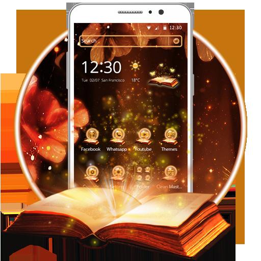 Magic Book Theme and Live wallpaper