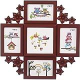 Webelkart Premium Collage Photo Frame (Photo Size - 4 x 6, 5 Photos) (Wooden Color)