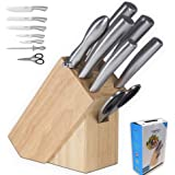 CUPERINOX | blocs couteaux | set de couteaux de cuisine | bloc couteaux cuisine professionnel | 7 pièces | bloc couteaux inox