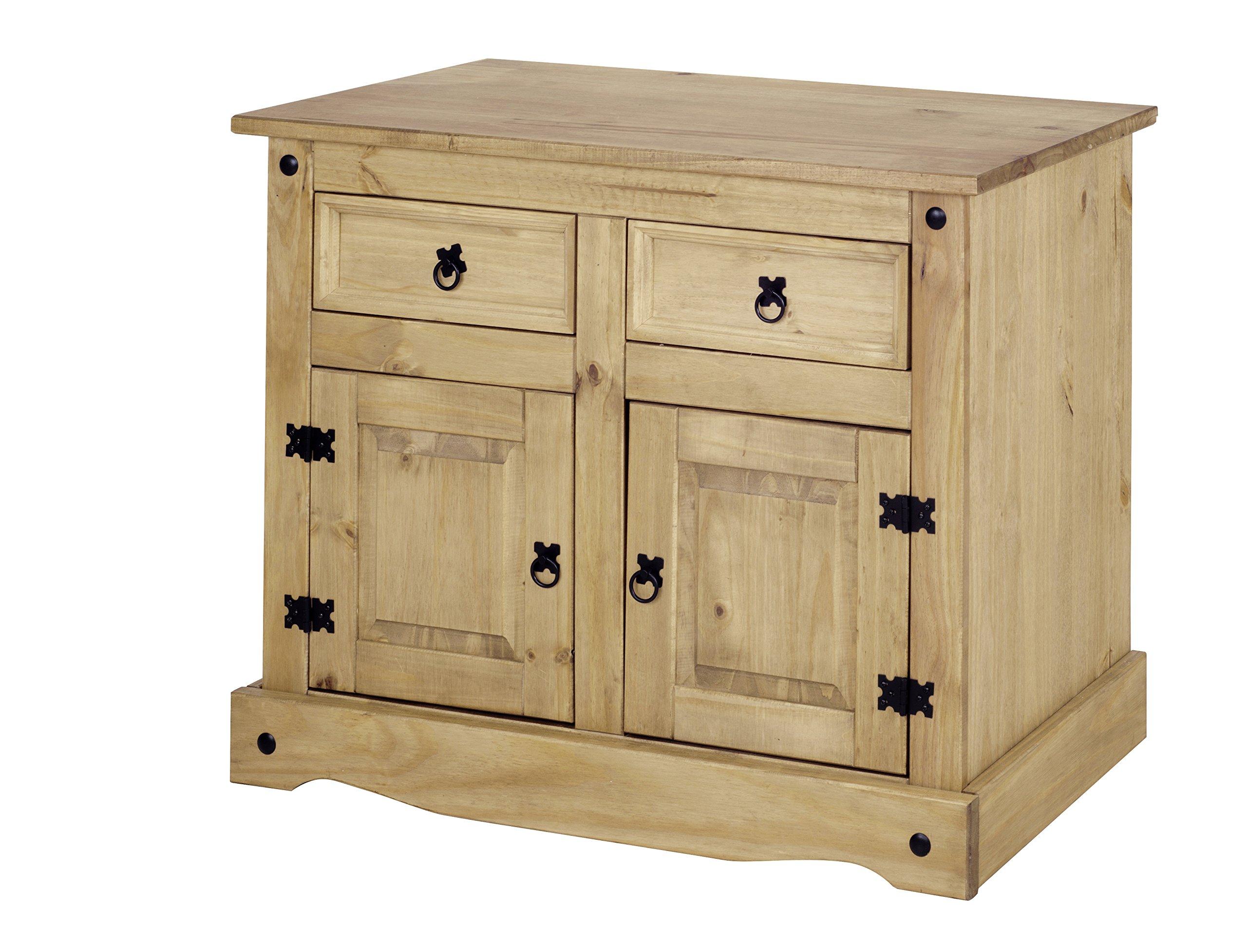Credenza Con Cassetti : Corona piccolo credenza a 2 ante con cassetti in legno di pino