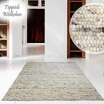Amazon.de: Hand-Web-Teppich | Reine Schur-Wolle im Skandinavischen ...