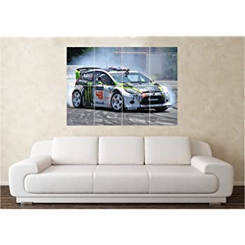 Ford Mustang Hoonigan Ken Block 4wd Muscle Car Poster A1