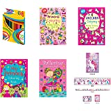 Perfect for Girls Ages 4-8 Anilas Girls Princess /& Ballerina Sticker Activity /& Colouring Books with Educational Book and Free Pencils or Felt Tip Pens Pencils