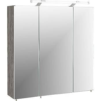 Schildmeyer Trient Holz Dekor Spiegelschrank Grau 70 0 X 16 0 X
