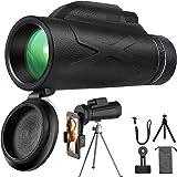 Kikare teleskop, 80 x 100 HD kikare monokulär teleskop mobiltelefon kikare objektiv vattentät med hållare och stativ för klät