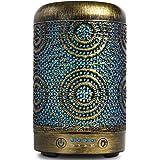SALKING Aroma diffuser, 100ml metalen ultrasone aromatherapie diffuser voor etherische oliën, 7 kleuren nachtlampje aromadiff